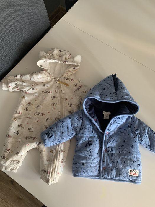 Sprzedam kurtke i pajac ocieplany niemowlecy rozmiar 50 i 56 Lubin - image 1