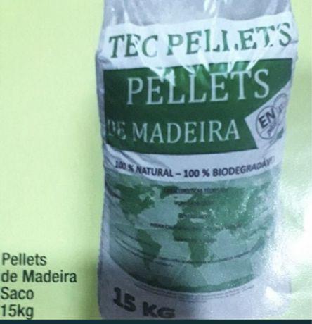 Pellets Certificadas A1Plus 100% Pinho saco 15 Kg