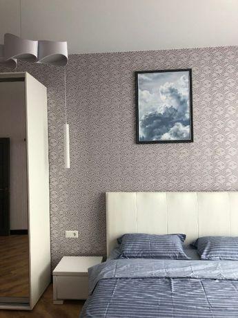 (mb) ЖК Новый Берег, 1-но комнатная с ремонтом и мебелью