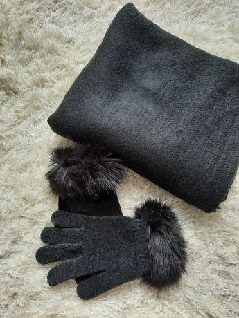 Komplet szalik i rękawiczki
