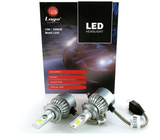 Zestaw żarówek LED H1 COB 12-24V 72W 7600LM L330
