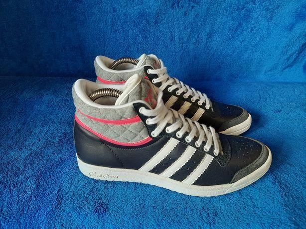 Оригинал высокие кроссовки кеды Adidas Top кожаные как новые
