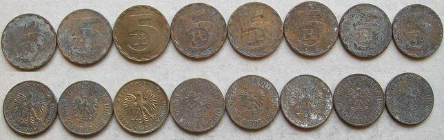 5 złotych 1981 - 1988 zestaw