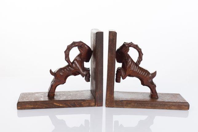 Drewniane stojaki podpórki do książek - Koziorożce Slodkie