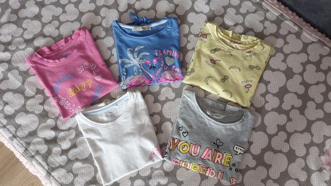Krótki rękaw 5 w cenie 3 bluzki H&M,Reserved,Terranova, Name It !!!