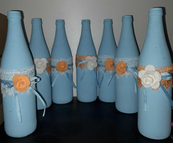 Бутылки-вазы для декора