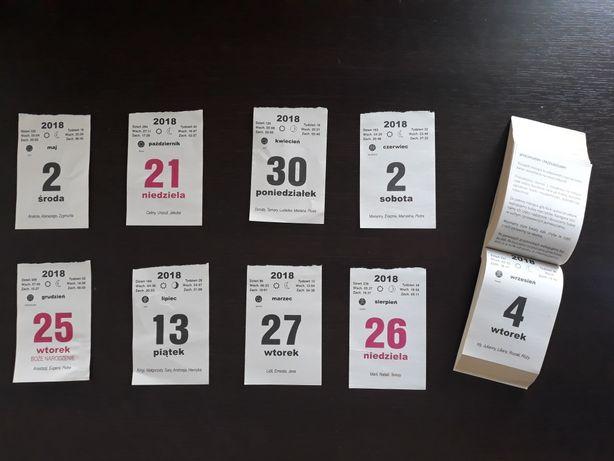 oryginalne kartki z kalendarza 2018