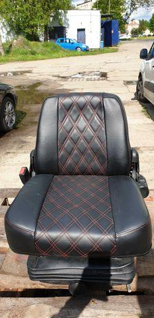 Amortyzowany fotel Grammer z regulacją do wózka widłowego