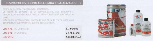 Vendo resina de poliester pré-acelerada + catalisador
