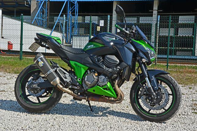 Kawasaki z800 ABS 2013 opony Pirelli zielony 113KM