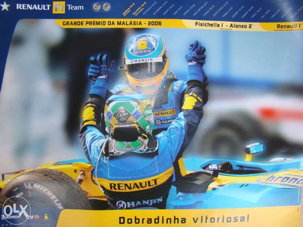Poster Renault F1 GP Da Malásia 2006