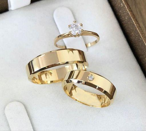SYMBOL MIŁOŚCI - Przepiękna Para Złotych Obrączek Ślubnych