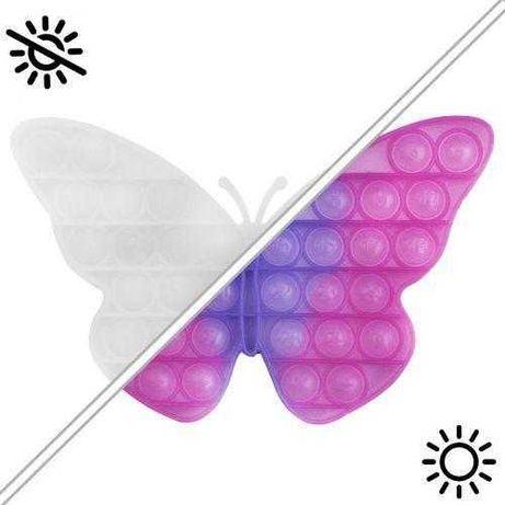 Игрушка антистресс Pop IT Бабочка Поп Ит Меняет цвет на солнце