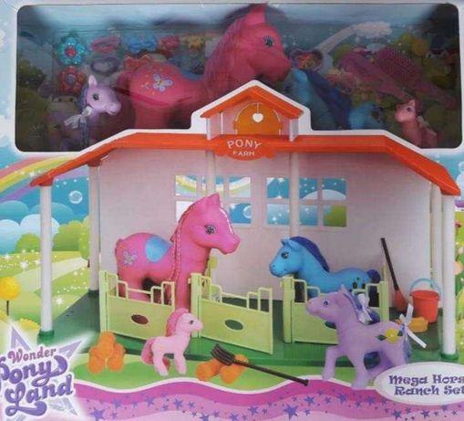 Stajnia zagroda dla kucyków Pony