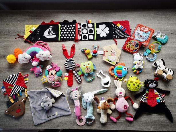 Zestaw zabawek dla niemowlaka kontrastowe dziewczynka