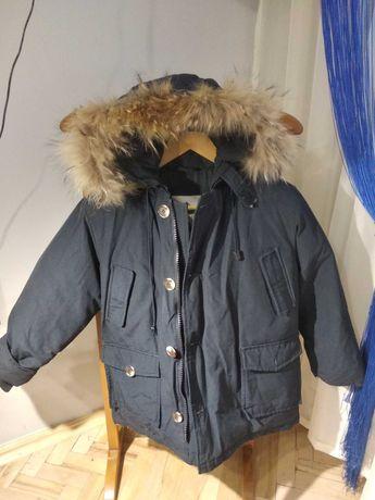 Пухова зимова куртка для хлопчика в ідеальному стані!8-10 р. Є заміри
