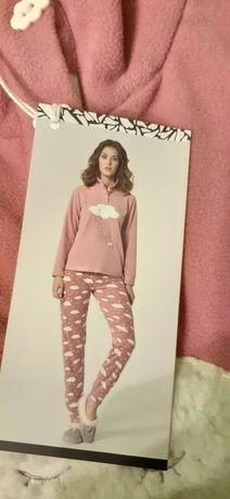 Polar damska piżama różowa włoski nowa XS/S