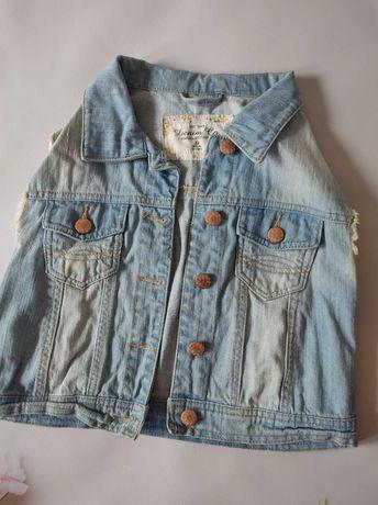 Жилетка девочка 12 джинсовая НМ