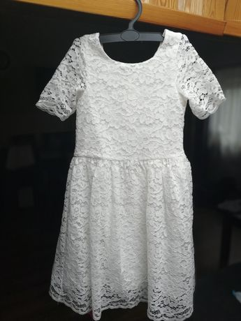 Biała sukienka 116 Cool Club jak nowa