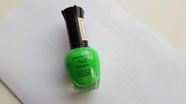 хит сезона, зеленый лак, Kleancolor, новый, 15 мл