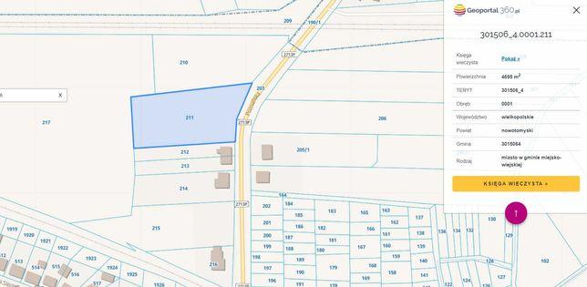 Sprzedam Działkę budowlaną 4695 m2 - idealna dla dewelopera