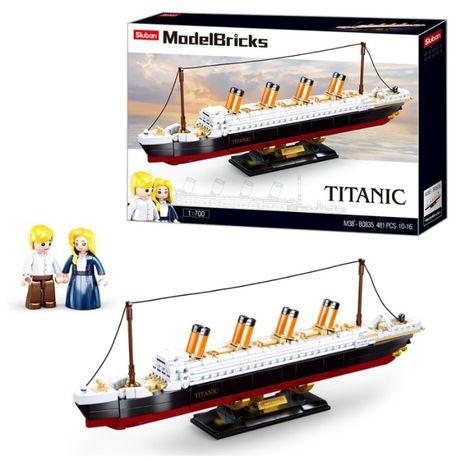 Конструктор типа лего корабль титаник titanic большой 481 деталь