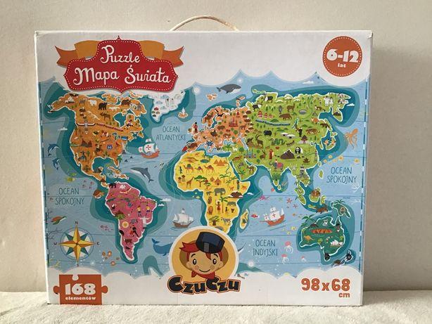 Puzzle MAPA ŚWITA firma Czuczu