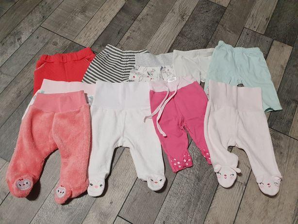 Zestaw: półśpiochy, spodnie i legginsy rozm 56