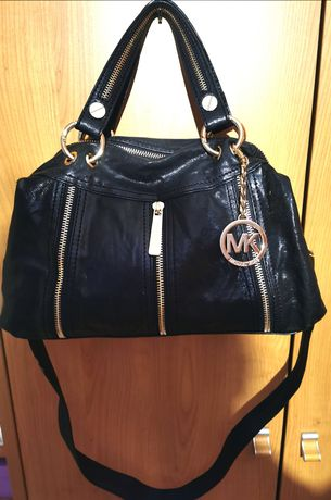 Michael Kors Black Leather Moxley Satchel