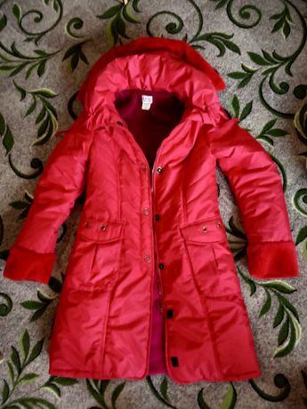 Красная курточка, куртка, пальто