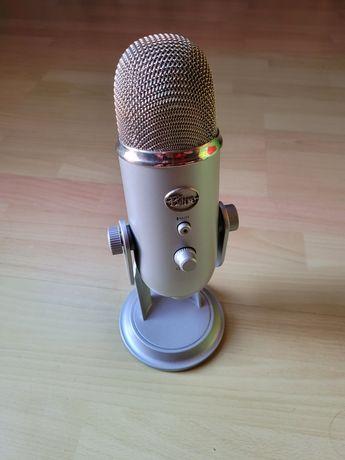 Microfone Blue Yeti USB cinza como novo