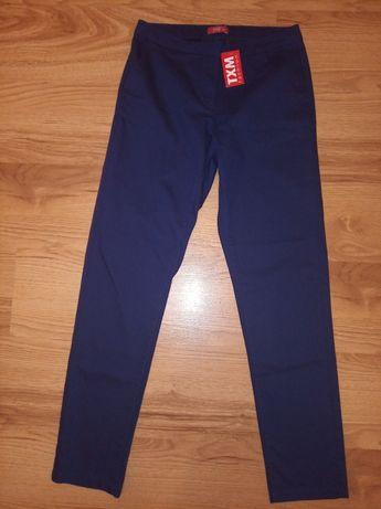 Nowe spodnie 38 proste nogawki granatowe