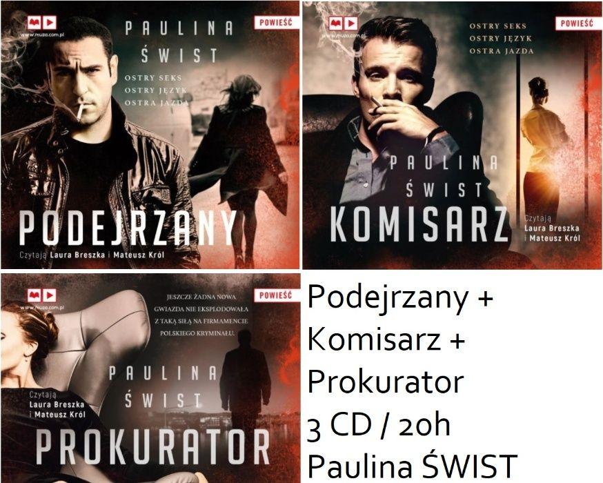 audiobook 3 CD Podejrzany + Komisarz + Prokurator Paulina ŚWIST 20h Wrocław - image 1