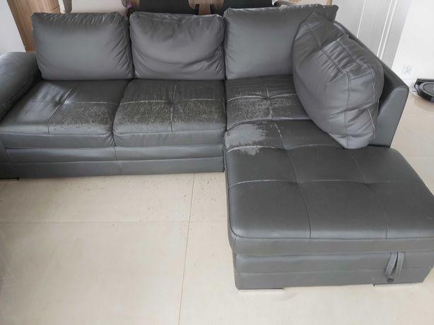 używana grafitowa sofa