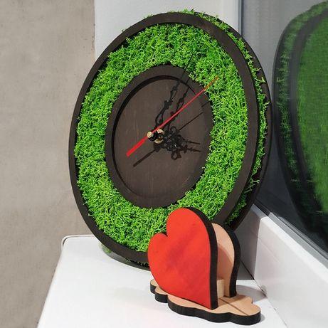 Часы из Мха. Настенные часы из натурального Норвежского мха.