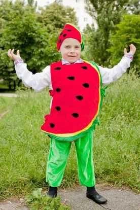 Костюмы овощей и фруктов на праздник осени для мальчиков