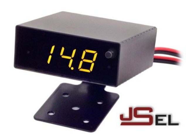 Woltomierz + termometr samochodowy VS2MT z alarmem