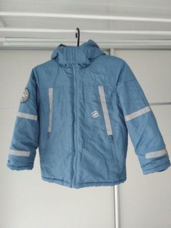 Новая зимняя куртка пуховик голубая серая Рост 128 , 7-8 лет