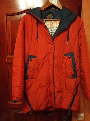 Красная куртка. Куртка деми