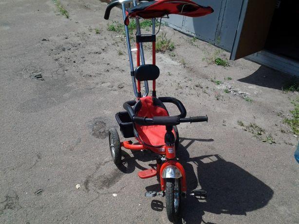Велосипед трехколесный Mini Trike на надувных колесах Красный