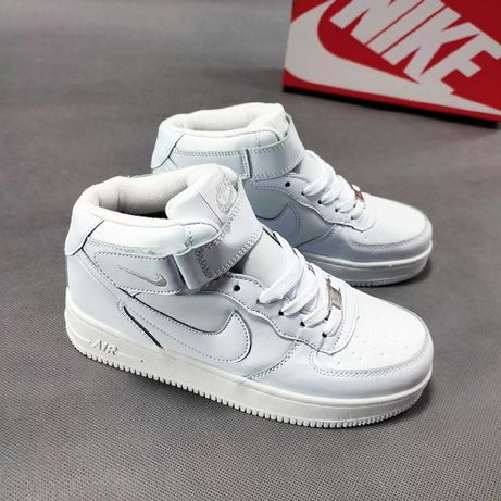 369 Nike air force 1 high белые кроссовки найк аир форс с мехом