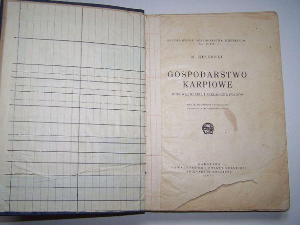 Gospodarstwo karpiowe książka z 1935 roku