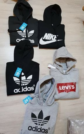Bluzy damskie z logo Adidas Nike Levis kolory S-XL!!!