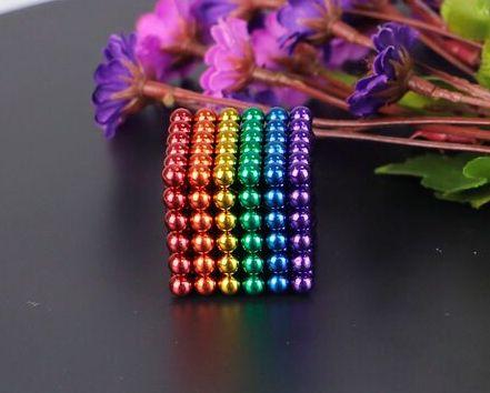 Головоломка Neocube нео куб магнитная 216 шариков Разноцветная