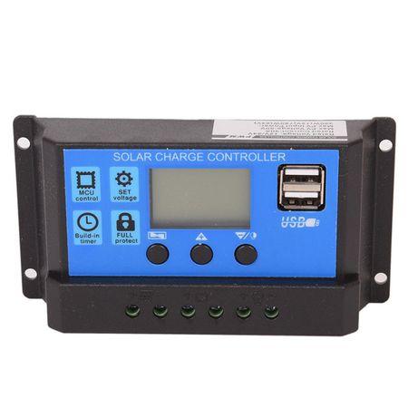 Regulator ładowania 30A LCD + USB do paneli słonecznych