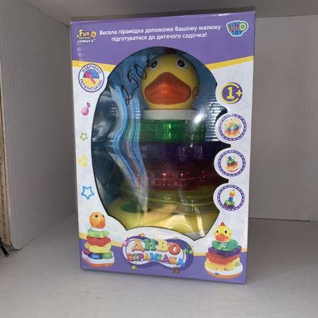 "Пирамида-неваляшка ""Веселый утенок"" - Limo Toy"