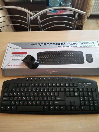 Беспроводная клавиатура и мышка Gembird