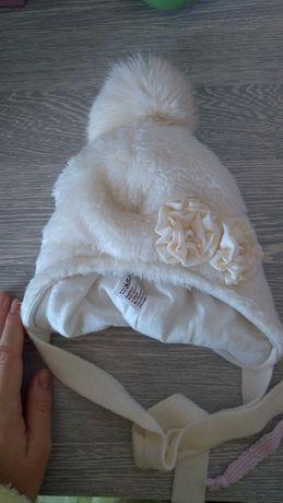 Новая зимняя детская шапка для девочки.