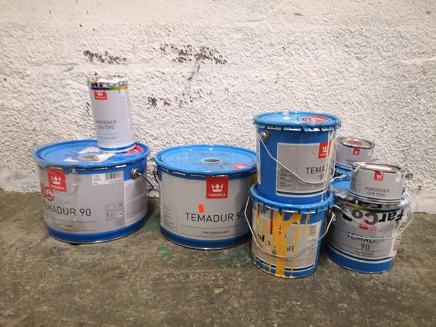 Farba poliuretanowa Temadur 90 firmy Tikkurila różne kolory