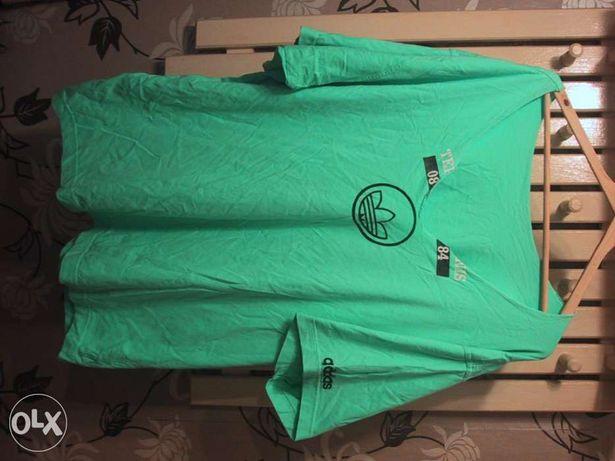 T-shirt ADIDAS.Jaska zieleń.Duży serek.trening.XXL.Wysyłka